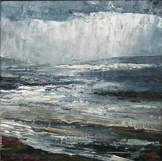 Clew Bay, oil on canvas, 9in x 9in - £795