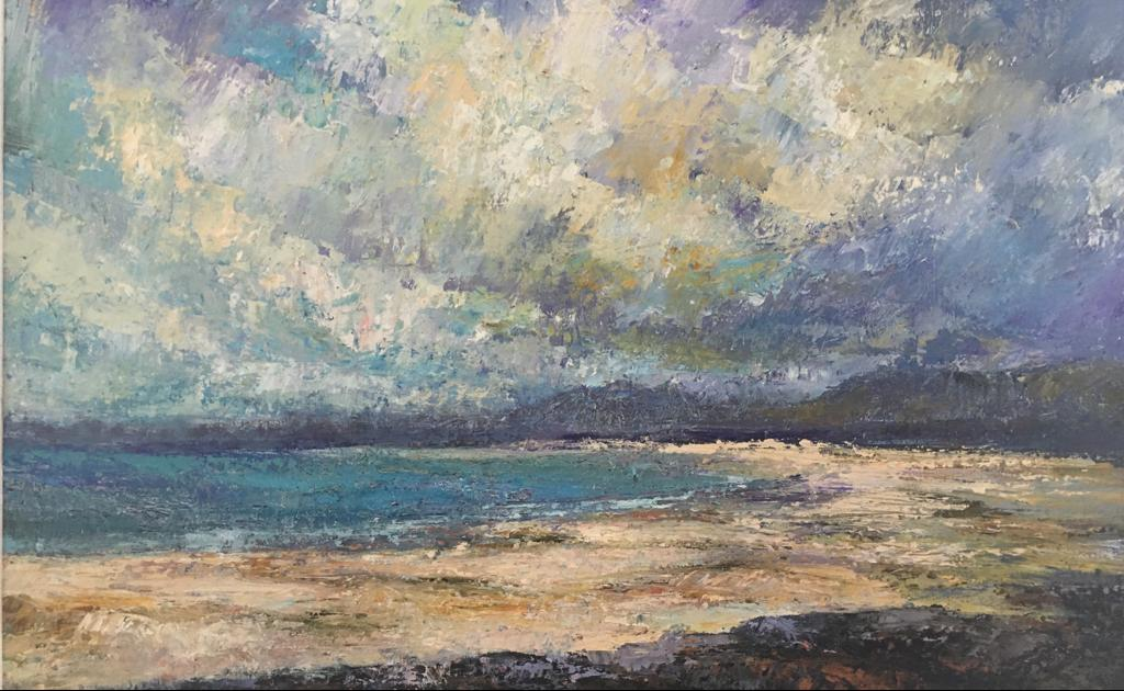 Renvyle Strand - oil on linen, 36cm x 60cm £1900