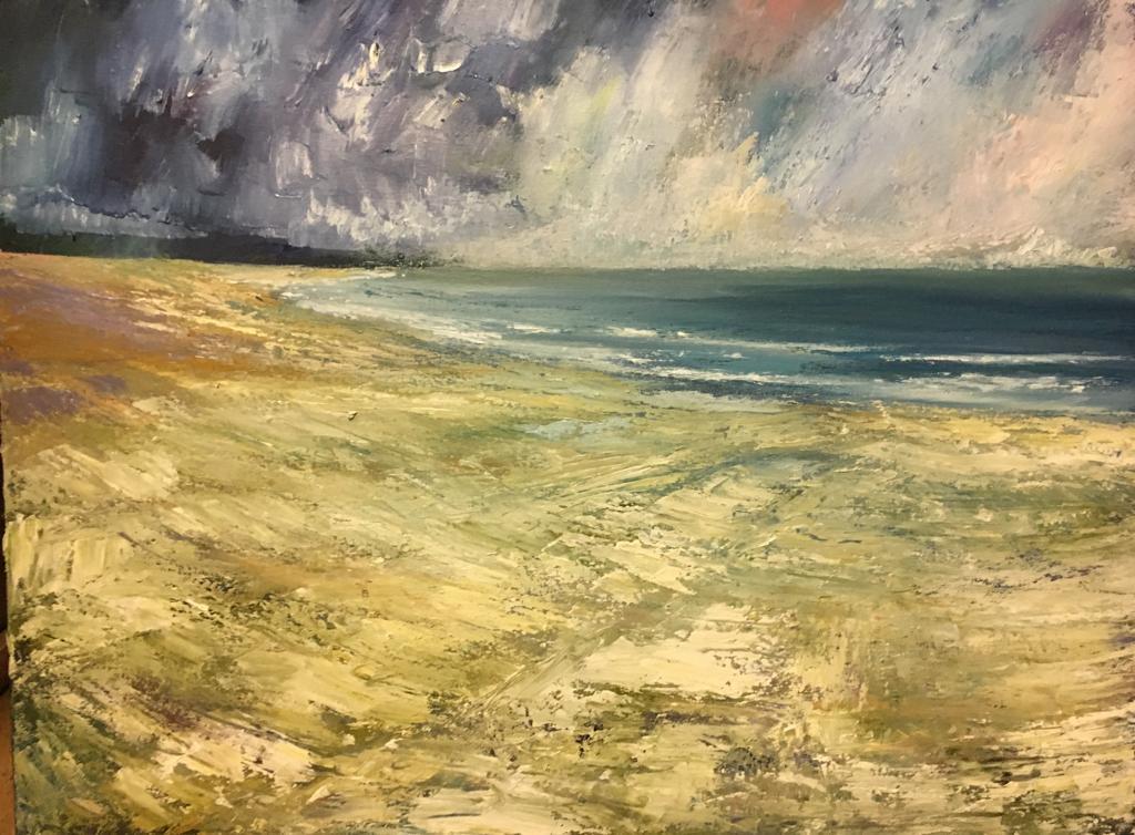 "'Strand Hill, Sligo' oil on canvas 27"" x 35"" £3200"