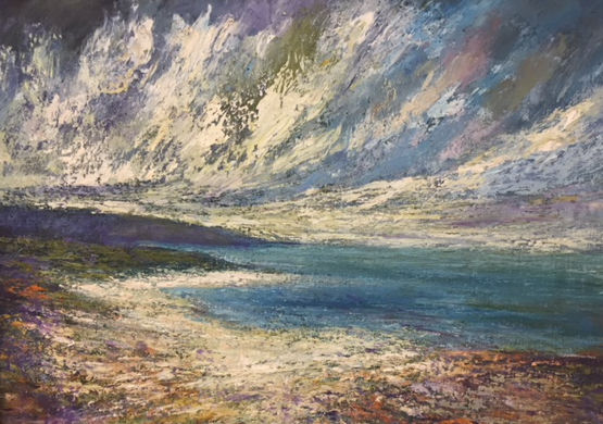 Tra Ghael Strand, Connemara, oil on canvas - £2400