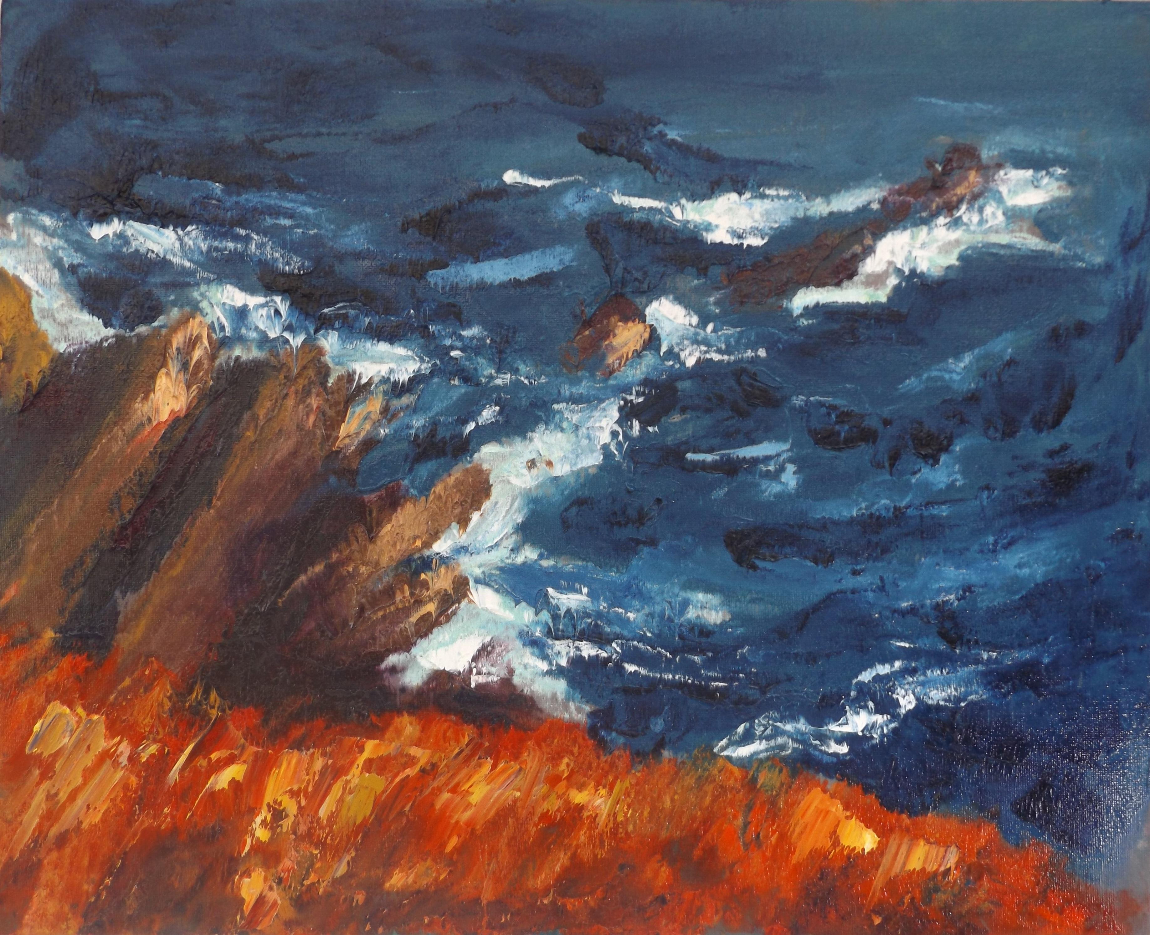 """Rod Coyne 'Cill Rialaig Blaze' oil on canvas 16"""" x 12"""""""