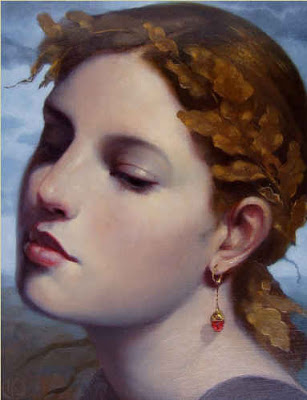 "Ken Hamilton 'Autumn leaves but the memories remain' oil on board 10"" x 8"""