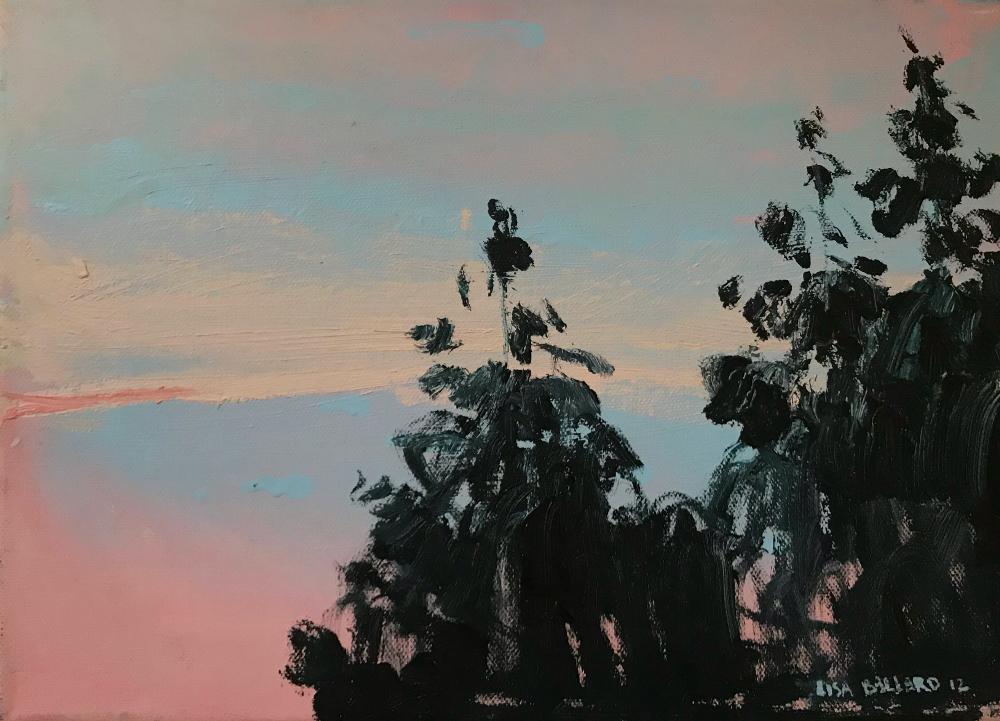 "Lisa Ballard 'Tree Tops' oil on canvas 10"" x 14"""