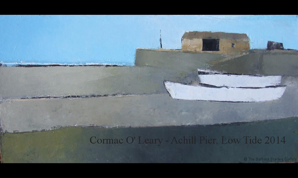 Achill-Pier-low-tide-2014-Oil-on-board-12-x-24-ins-£970