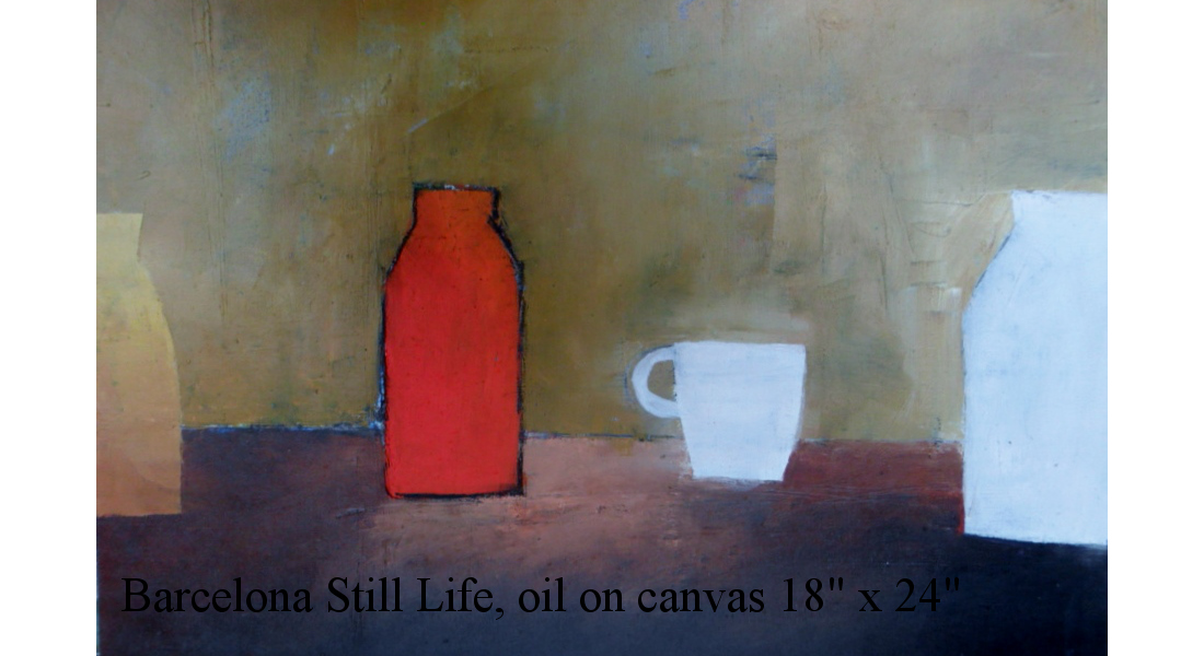 Barcelona Still-life, Oil on canvas, 18 x 24 ins £980