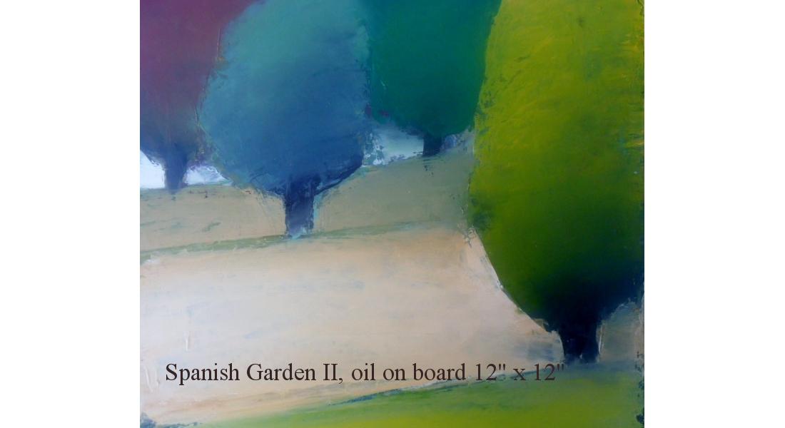 Spanish Garden II Oil on board 12 x 12 ins