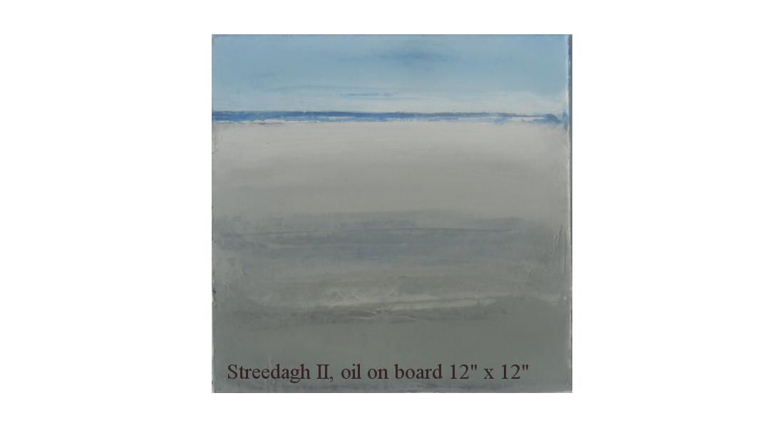 Streedagh II Oil on board, 12 x 12 ins