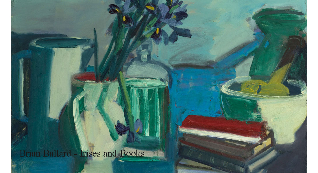 Irises-and-Books-oil-on-canvas-20-x-27in