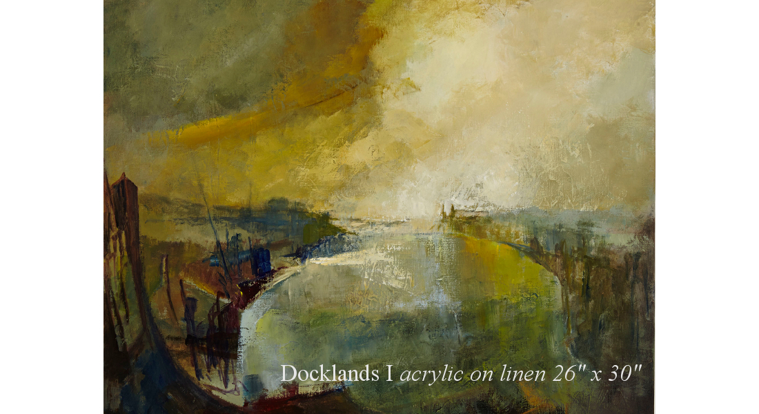 Docklands acrylic on linen 26 x 30in homepage