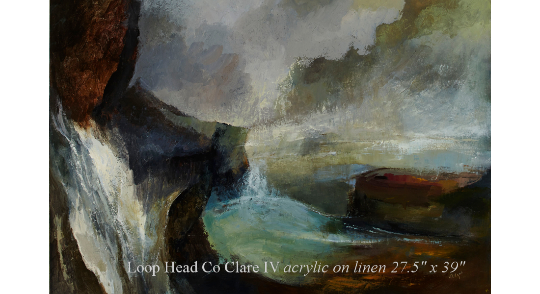Loop Head Co Clare IV acrylic on linen 27.5 x 39in homepage