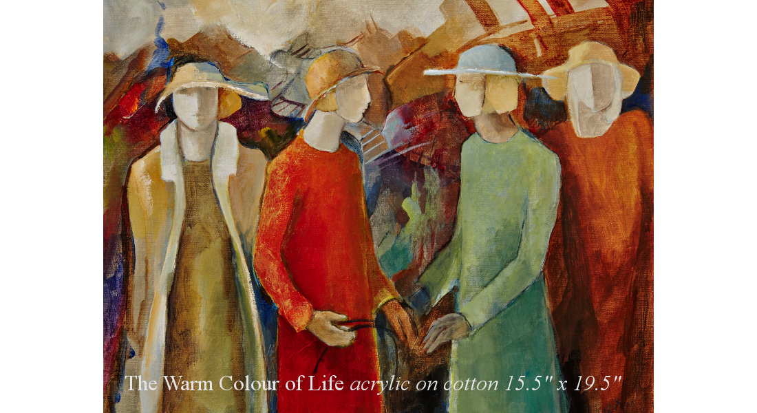 The Warm Colour of Life acrylic on cotton 15.5 x 19.5in homepage