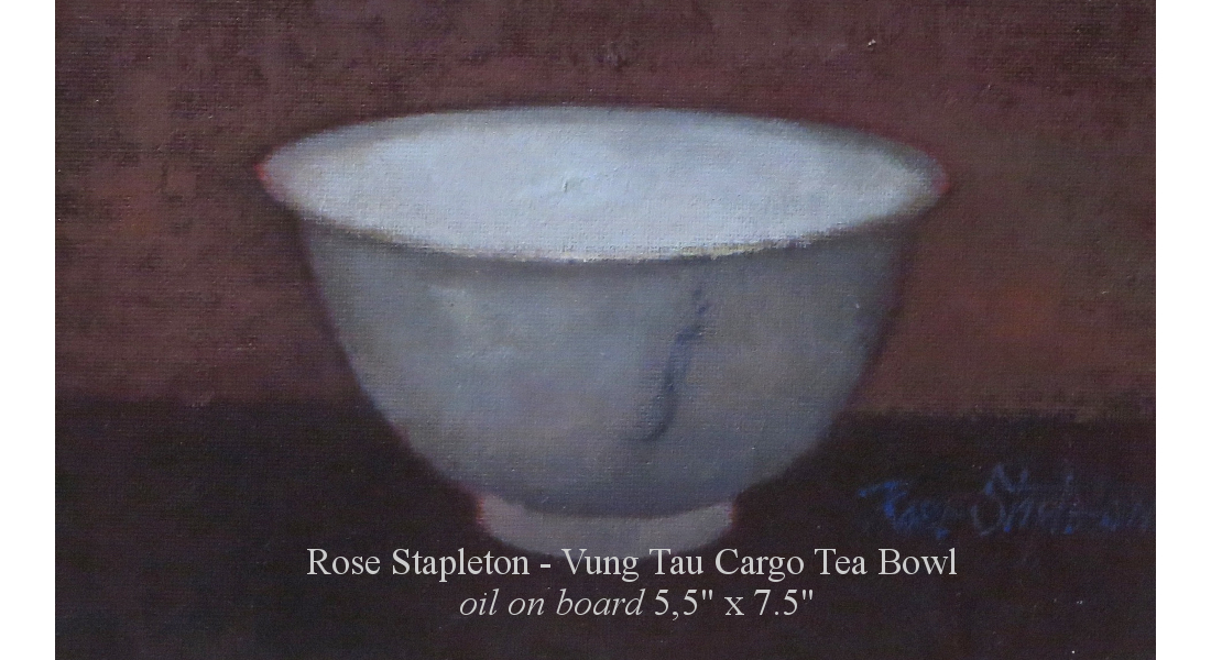 Vung Tau Cargo Tea Bowl oil on board, 5.5x7.5.- homepage