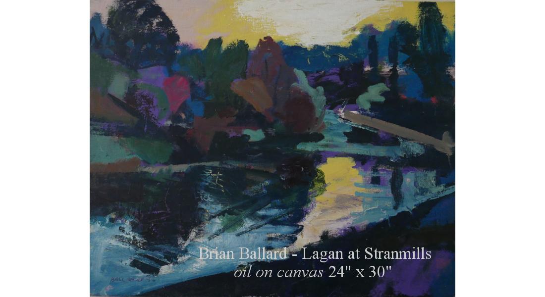 Lagan at Stranmills oc 24x30in 1995 homepage