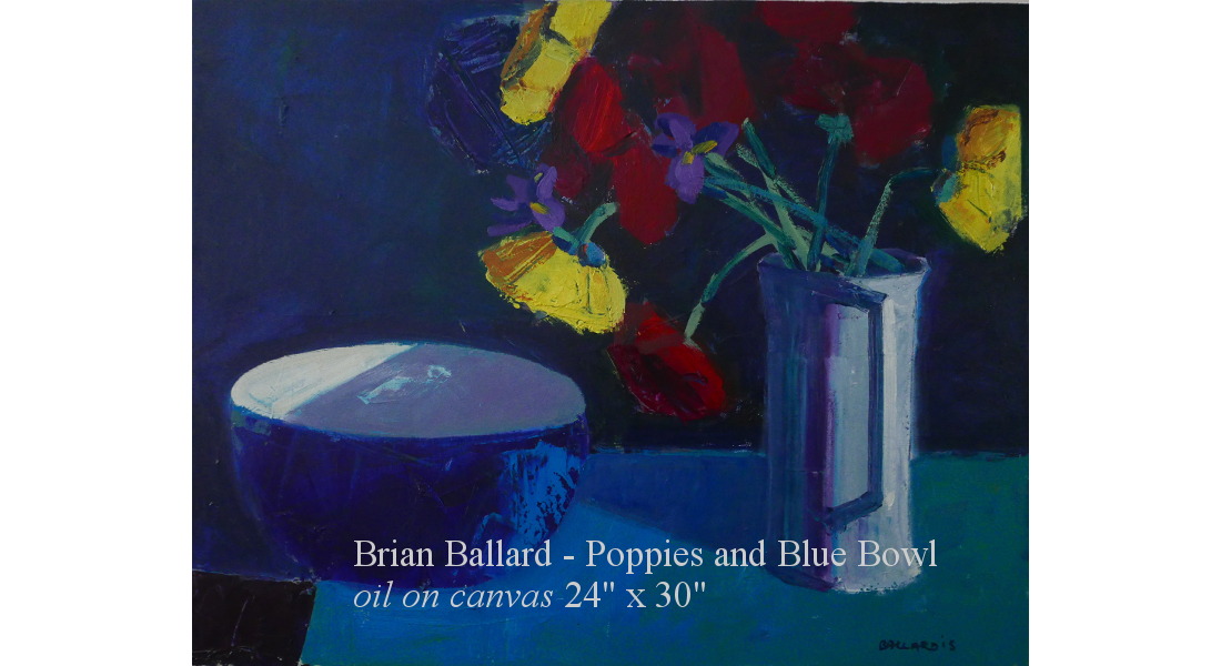 Poppies and Blue Bowl oc 24x30 2015 homepage