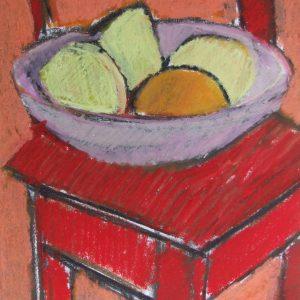 Auribeau Still life II, Pastel on paper, 28 x 20 cm, 11x8in (1)
