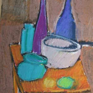 Auribeau Still life III, Pastel on paper, 28 x 20 cm, 11x8in
