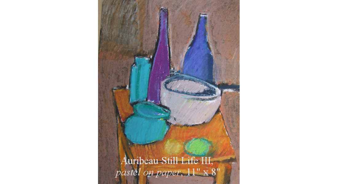 Auribeau Still life III, Pastel on paper, 28 x 20 cm, 11x8in HOMEPAGE