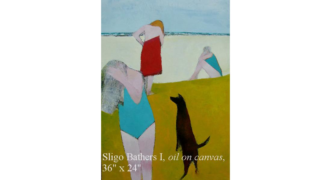 Sligo Bathers I, Oil on canvas, 92 x 61cm, 36 x 24 ins HOMEPAGE
