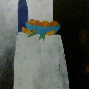 Summer Night Still Life, Oil on canvas, 102 x 76cms,  40 x 30ins