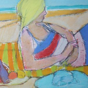 The French Dress, Pastel on paper, 30 x 41 cm, 12 x 16in