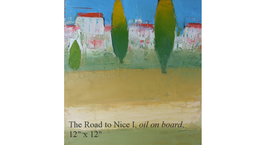The Road to Nice I, Oil on board, 30 x 30 cm, 12 x 12in, HOMEPAGE