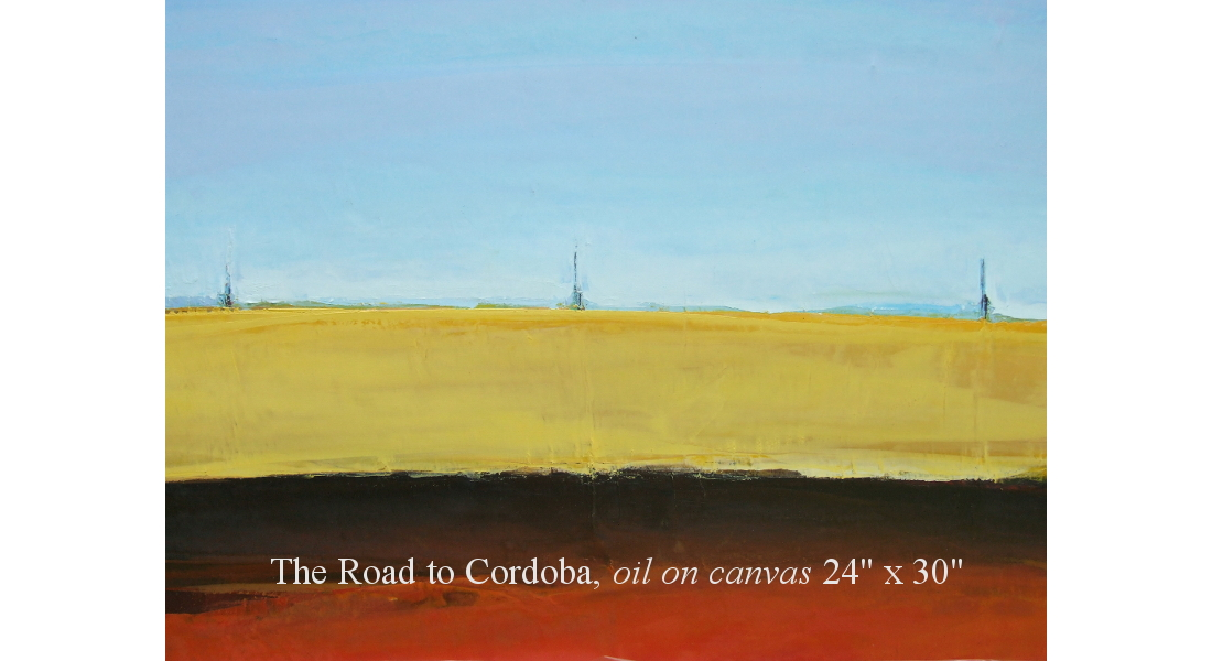 The road to Cordoba, Oil on canvas, 61 x 76 cm, 24 x 30in HOMEPAGE