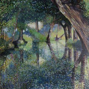 Sunlight On The Marsh oil on canvas 20 x20 web