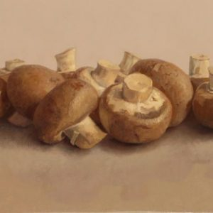 chestnut-mushrooms-oil-on-canvas-6-x12in
